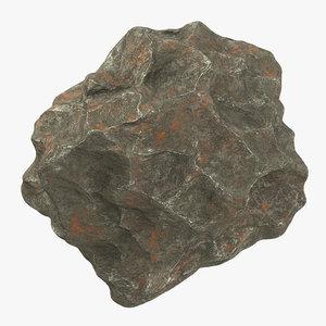 3d model meteorit iron 01 -