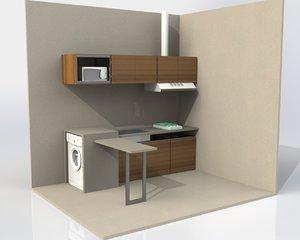 minimalist kitchen 3ds