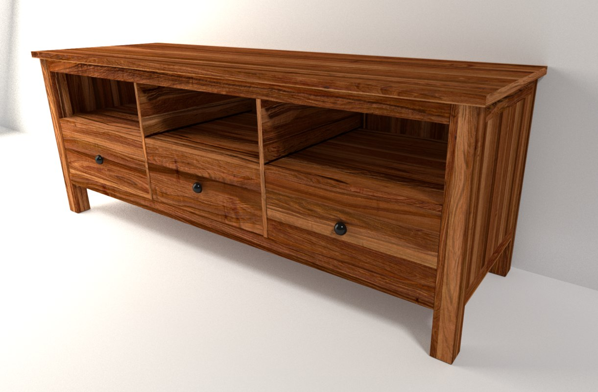sideboard solid wood 3d model