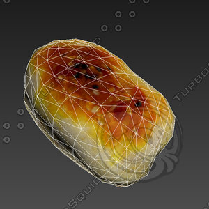pastry cheese filling 3d model