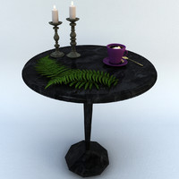 3d table candle model