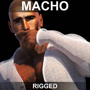 realistic man rigged 3d max