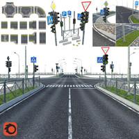 street elements roads 3d max