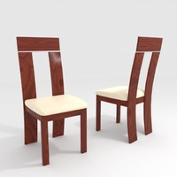 chair walnut 3d max