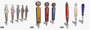 3d 11 beer taps