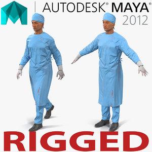 male surgeon mediterranean rigged 3d ma