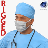 male surgeon mediterranean rigged 3d c4d