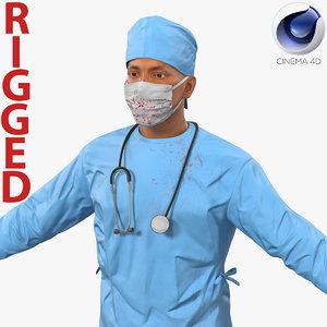 c4d male surgeon mediterranean rigged