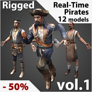 rigged pirates real-time max
