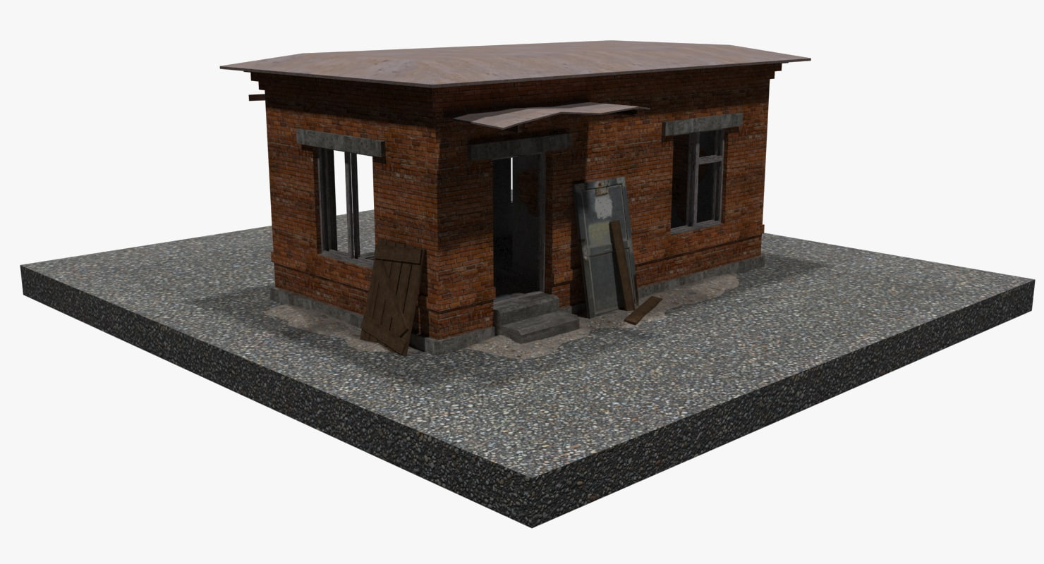 abandoned military checkpoint 3d model