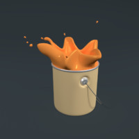 3d splash paint model