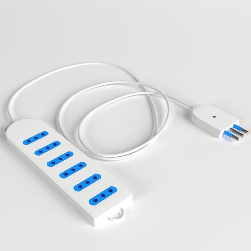italian power strip type 3d max