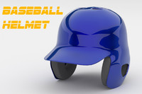 Classic Baseball Helmet 3D Model