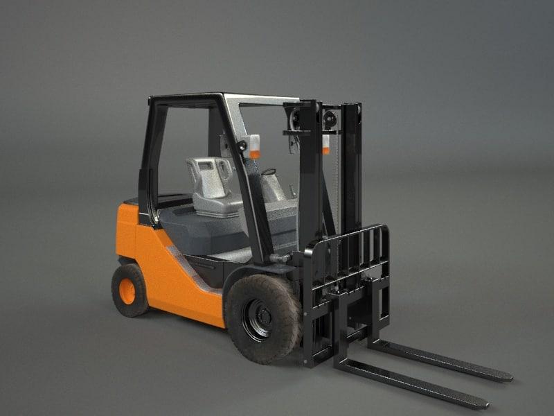 3d model forklift industrial