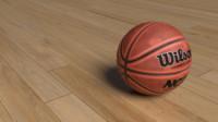 wilson basketball ball 3d model