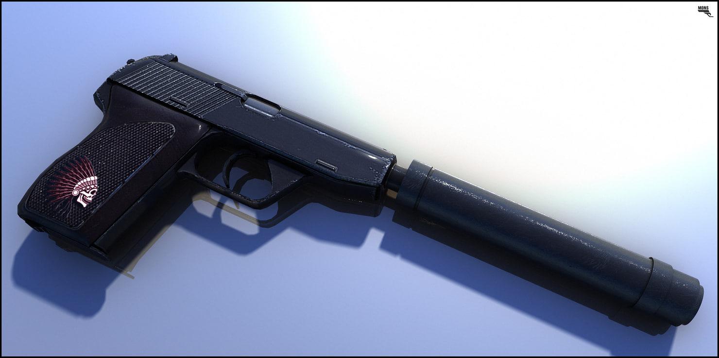 gun silence 3d model