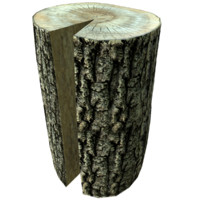 3d log photorealistic
