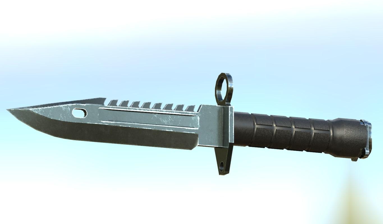 bayonet m9 3d obj