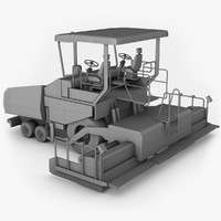 vogele wheeled paver super 3d model