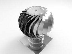 3d roof fan