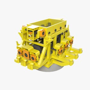 3d model subsea cluster manifold
