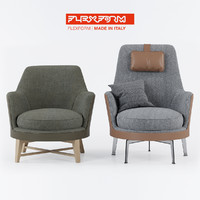 flexform guscio chair 3ds