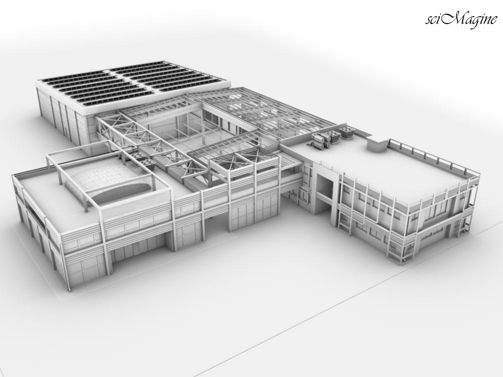 industrial plant 3d obj