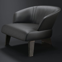 minotti creed large armchair 3d max