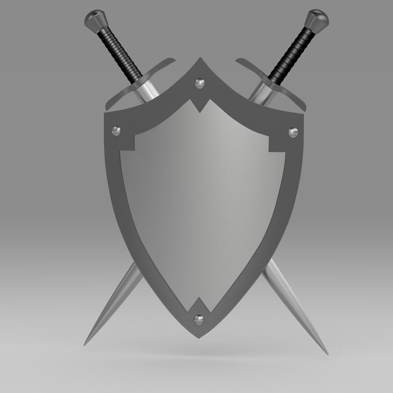 shield sword c4d