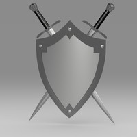 shield sword c4d