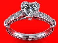 engagement ring 3d 3dm