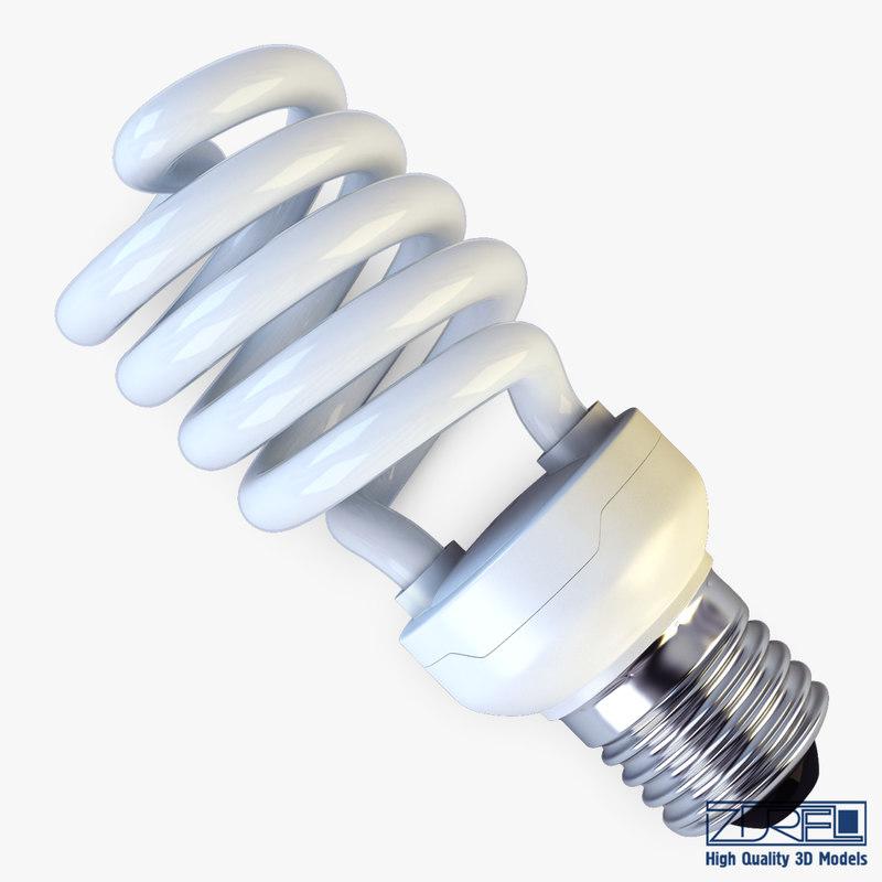 3d model fluorescent lamp v 1