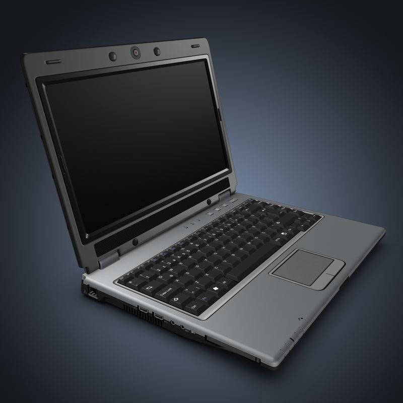 laptop keyboard 3d model