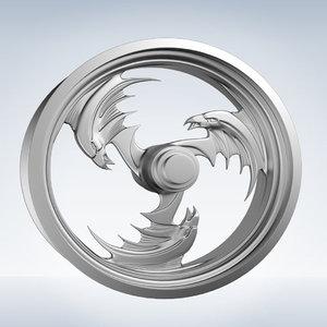 3d model eagle rim