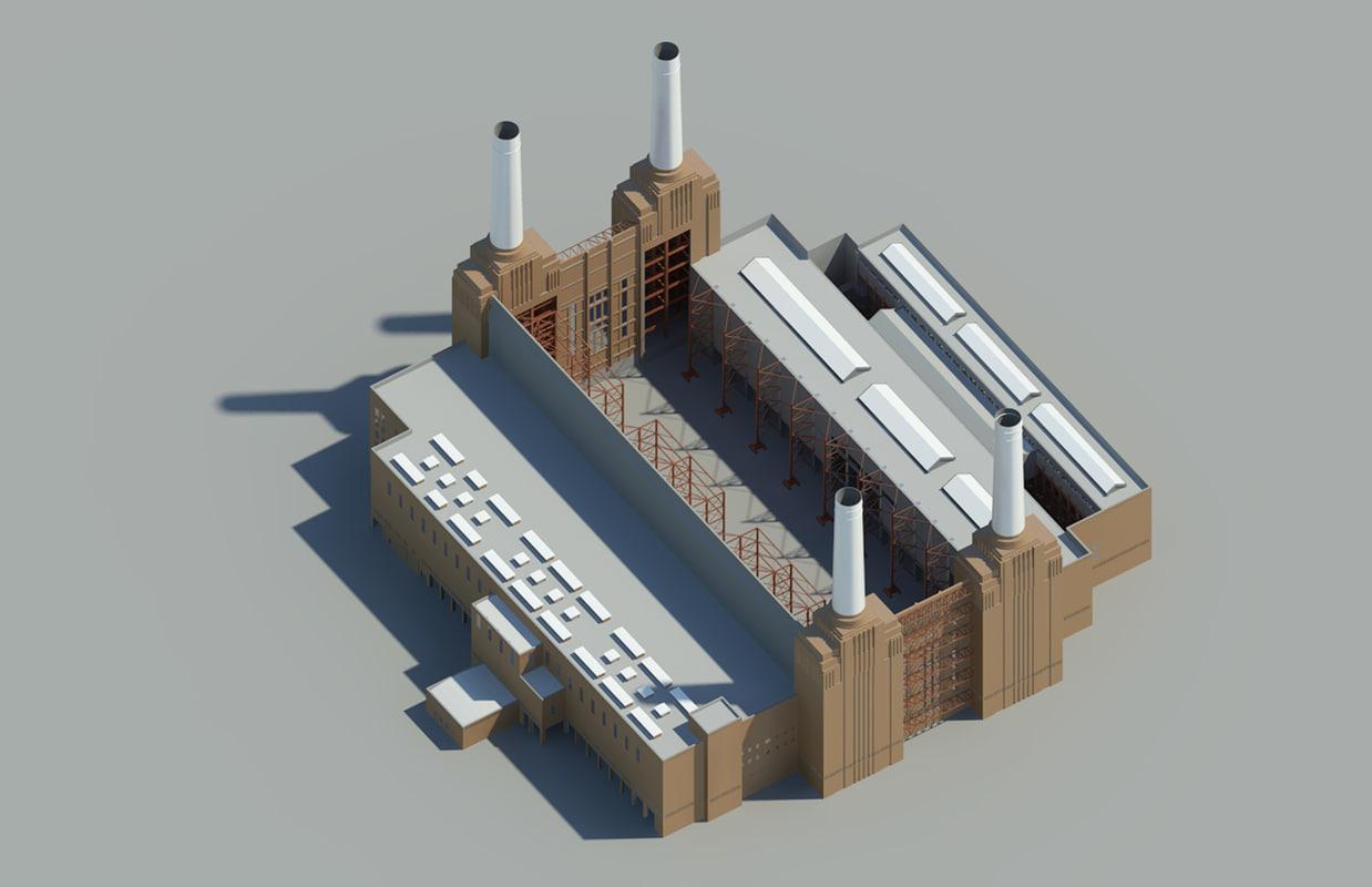 3d model battersea power station london