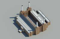 3d model battersea power station london