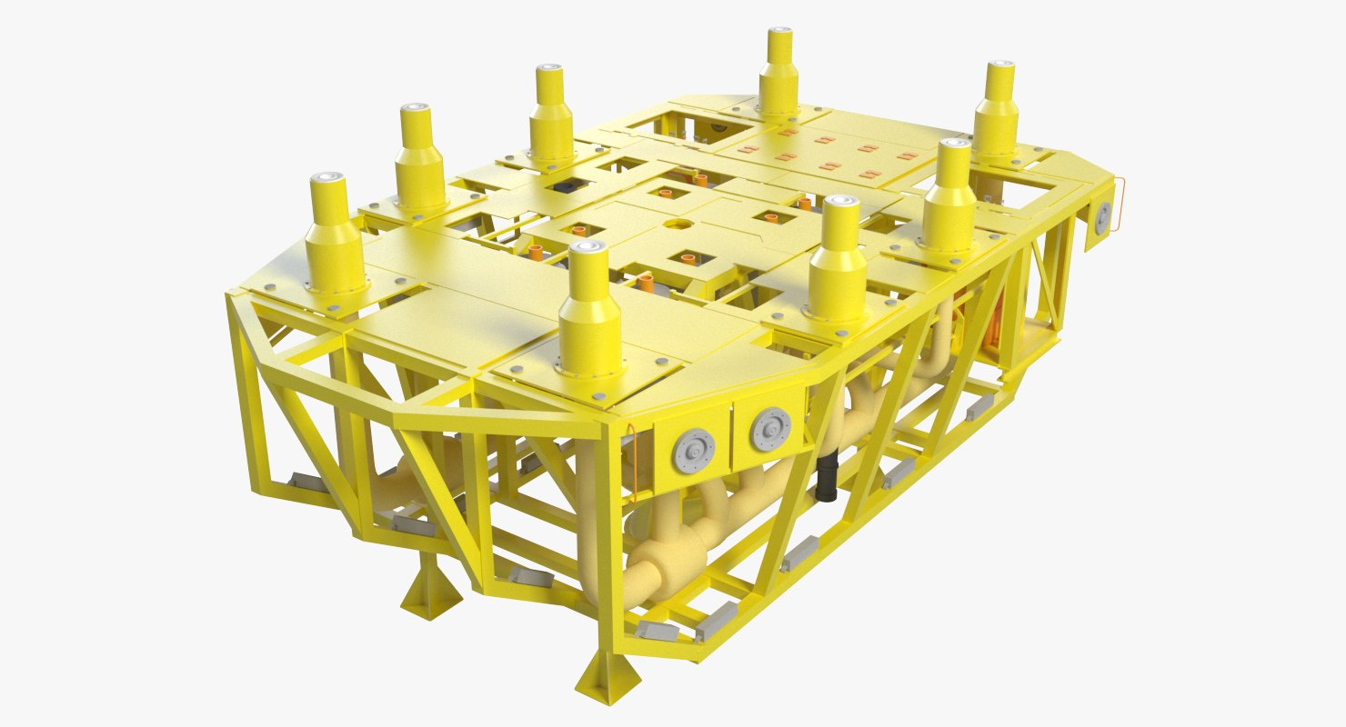 3d model subsea template manifold