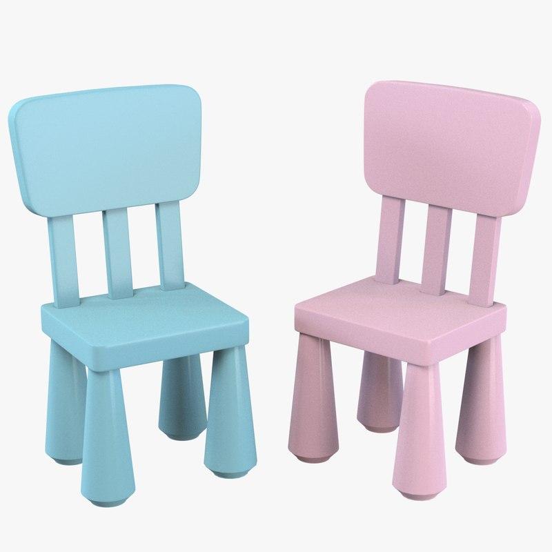 3d ikea mammut children chair model. Black Bedroom Furniture Sets. Home Design Ideas