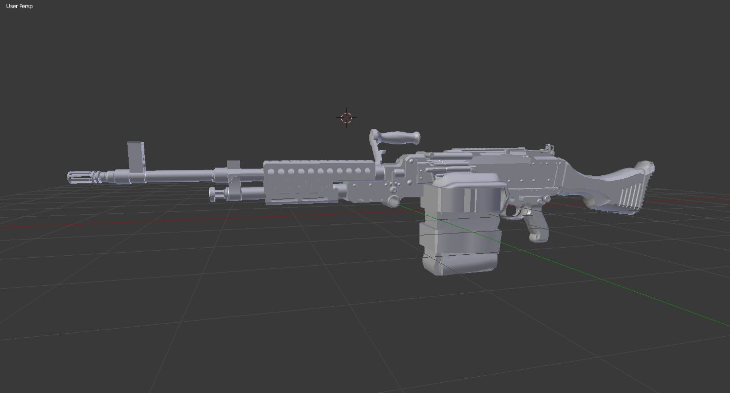 3d model m240 lmg