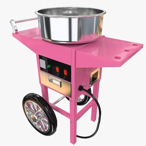 3d cotton candy machine