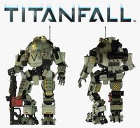 titanfall atlas titan 3d model