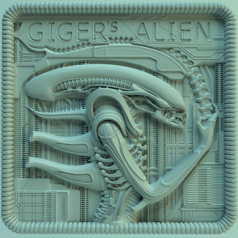 panno giger alien ver02 3d model