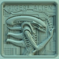 panno giger alien ver02 3d model