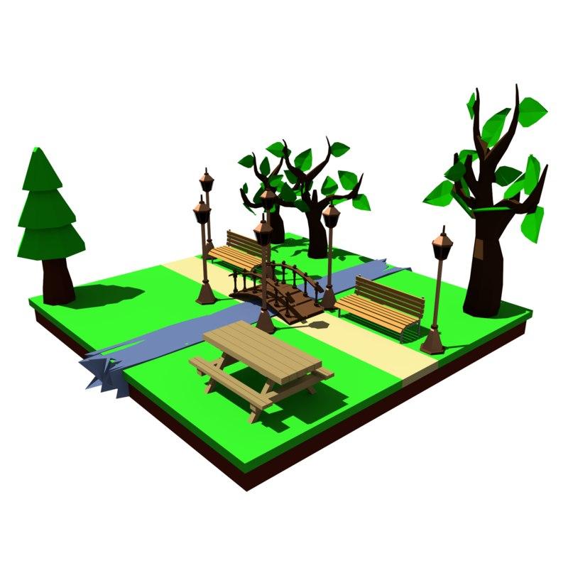 assets park fbx