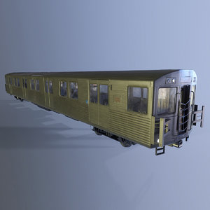 3d model ttc t1 subway car