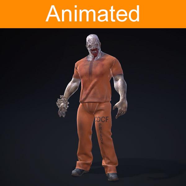 character prisoner 3d model