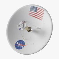 3d antenna space probe model