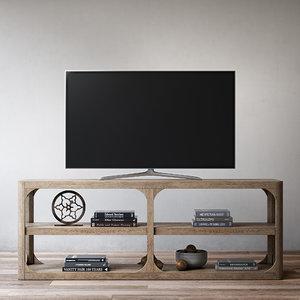 martens 81in media console 3d model