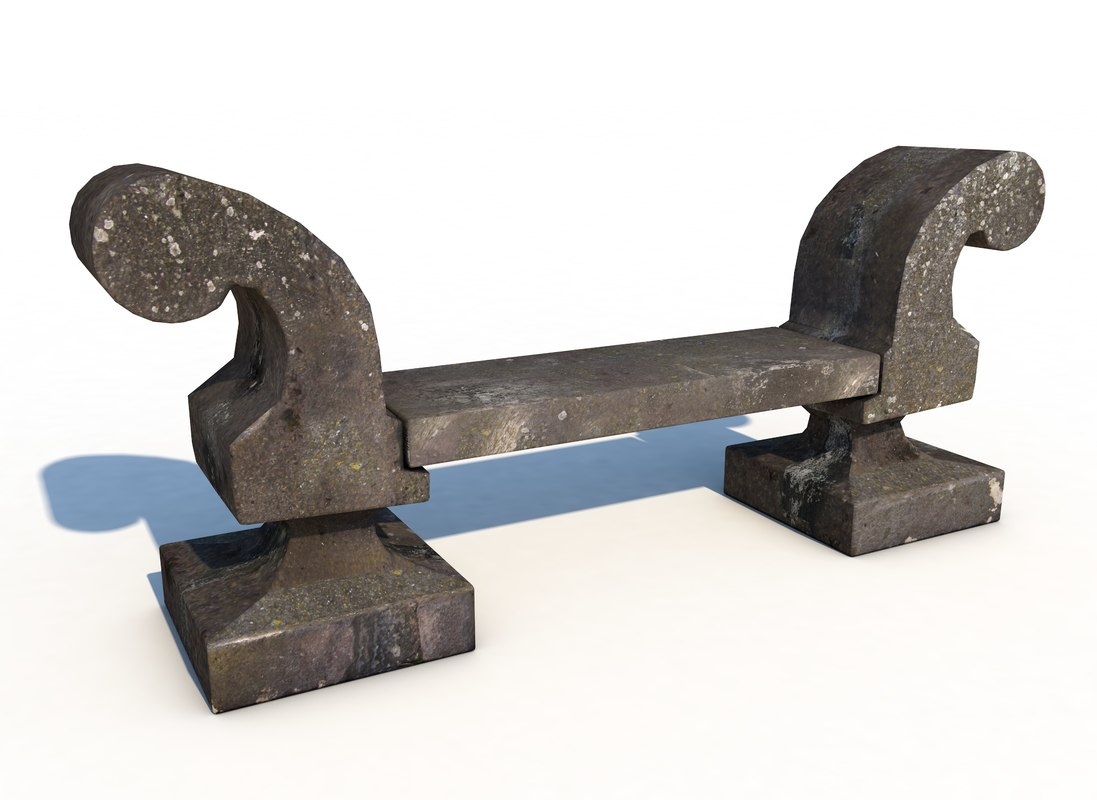 stone bench 3d model