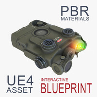 Dual Beam Assault Laser with Rangefinder in Olive Camo